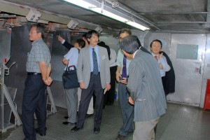Customers Touring Our Forming Tunnel
