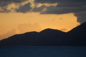 Sunset Over Tortola
